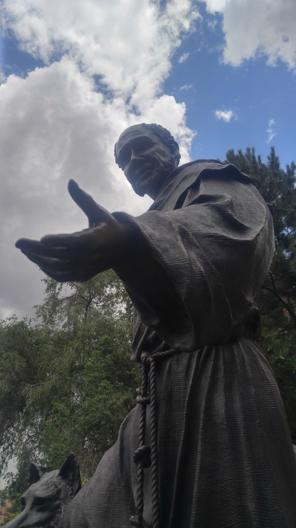 Statue of St. Francis of Assisi, Santa Fe, New Mexico, US
